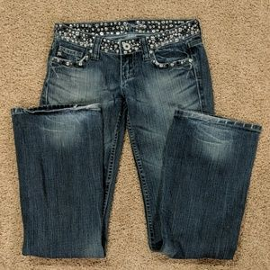 Miss Me Studded Blue Jeans Size 26